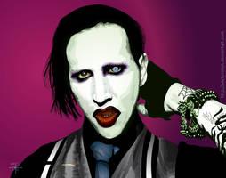 Marilyn Manson Vector by Vectorolon