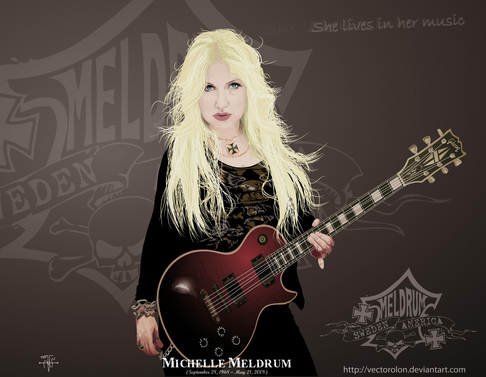 Michelle Meldrum Vector by Vectorolon