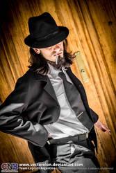 Team LupinIII Cosplay Feb2014 photo22 Jigen by Vectorolon