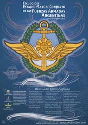 Escudo del Estado Mayor Conjunto FFAA Arg - Vector