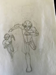 Flash drawing in progress by The-Emeralds