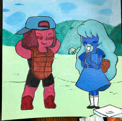 Ruby and Sapphire painting by The-Emeralds