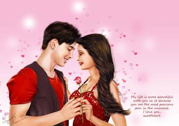 Valentine Couple art by senarath by senarath