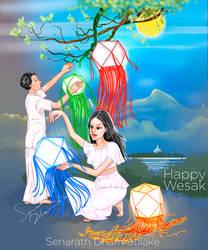 Vesak Lanterns by senarath
