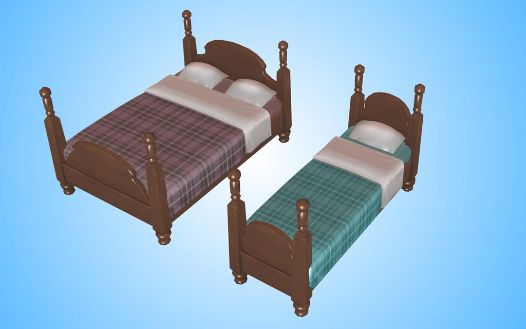 Bed MMD. Sims4 by NekaSan
