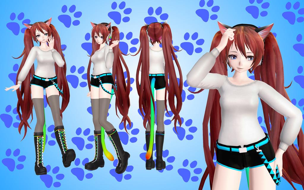 model cat 37 MMD. update by NekaSan