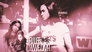WWE Diva AJ Lee Custom Wallpaper