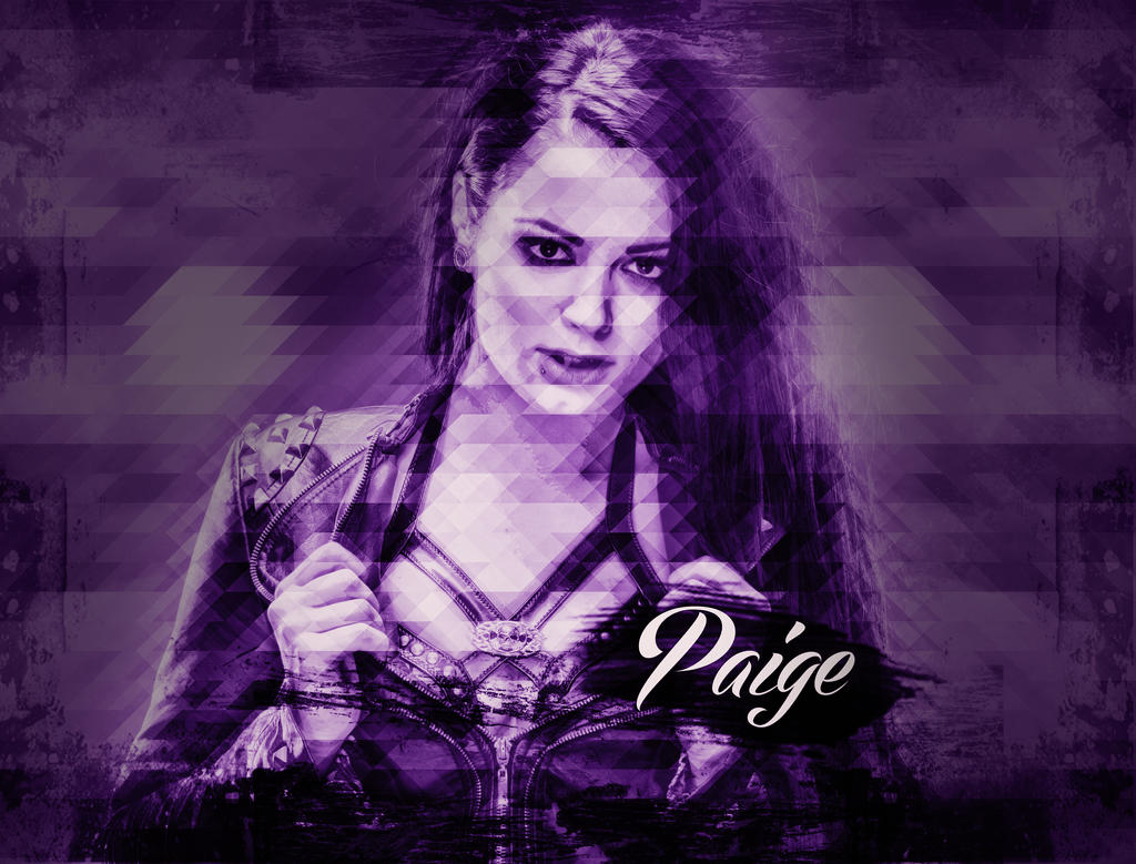 wwe diva paige mosaic triangle custom wallpaper by