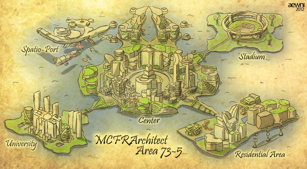 Map of the Futuristic City Area 73-5 (Minecraft) by AewniNi on ...