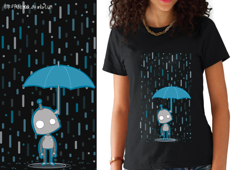 Robot T-shirt by PickleMoose
