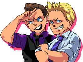 Miz and Jericho by GreenWild