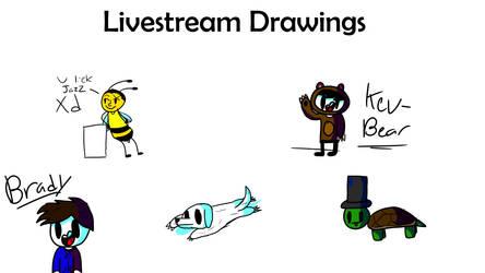 Livestream Drawings by BlazerWerewolf