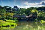Hikone Castle from Genkyu-en