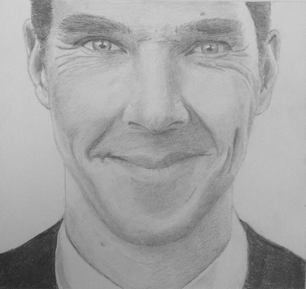 Benedict Cumberbatch smile by clareiow on DeviantArt