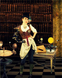Steampunk Physicist by QuantumPhysica