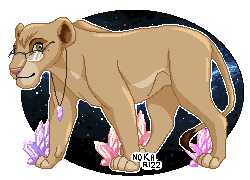 Crystal lioness