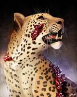 [Crystal Felines 2/5] - Ruby Leopard by NokaRi22