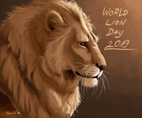 World Lion Day 2019 [+ speedpaint]