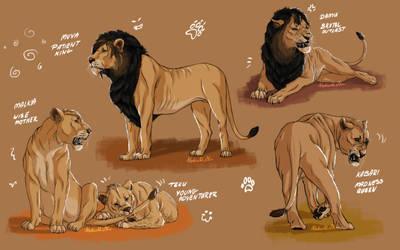 Lionesses Pride sketch dump