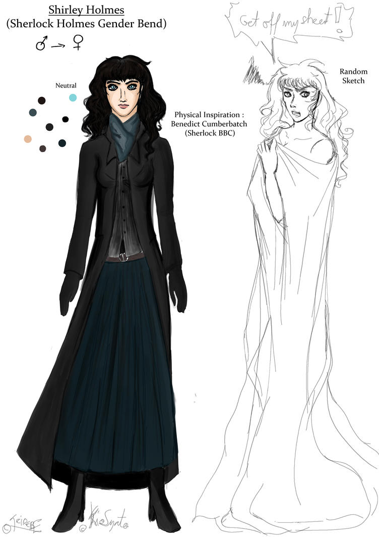 Gender Bend Sherlock BBC - Shirley Holmes by Teirebe