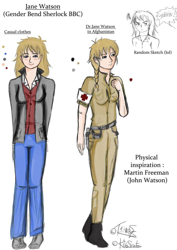 Gender Bend Sherlock BBC - Jane Watson by Teirebe