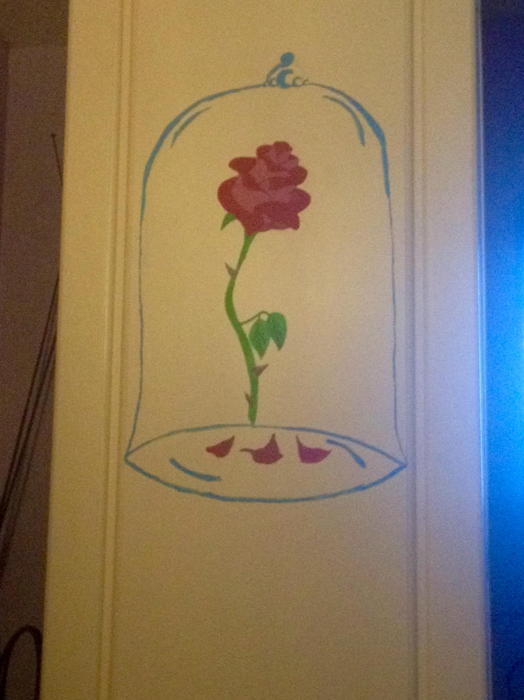Beauty And The Beast Rose Painting On Wardrobe By Littlelottie95 On Deviantart