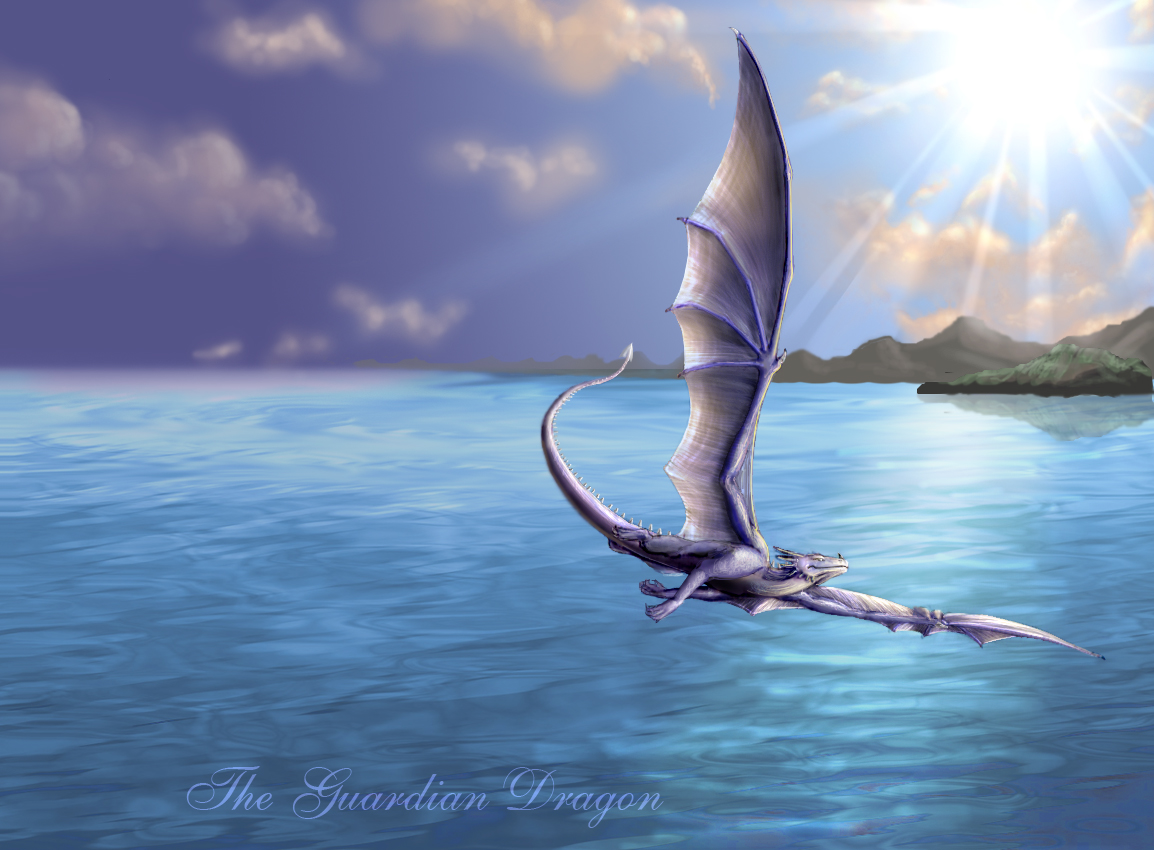 Sythyry: Draft of a Dragon Dragon__freedom_scape_by_theguardiandragon