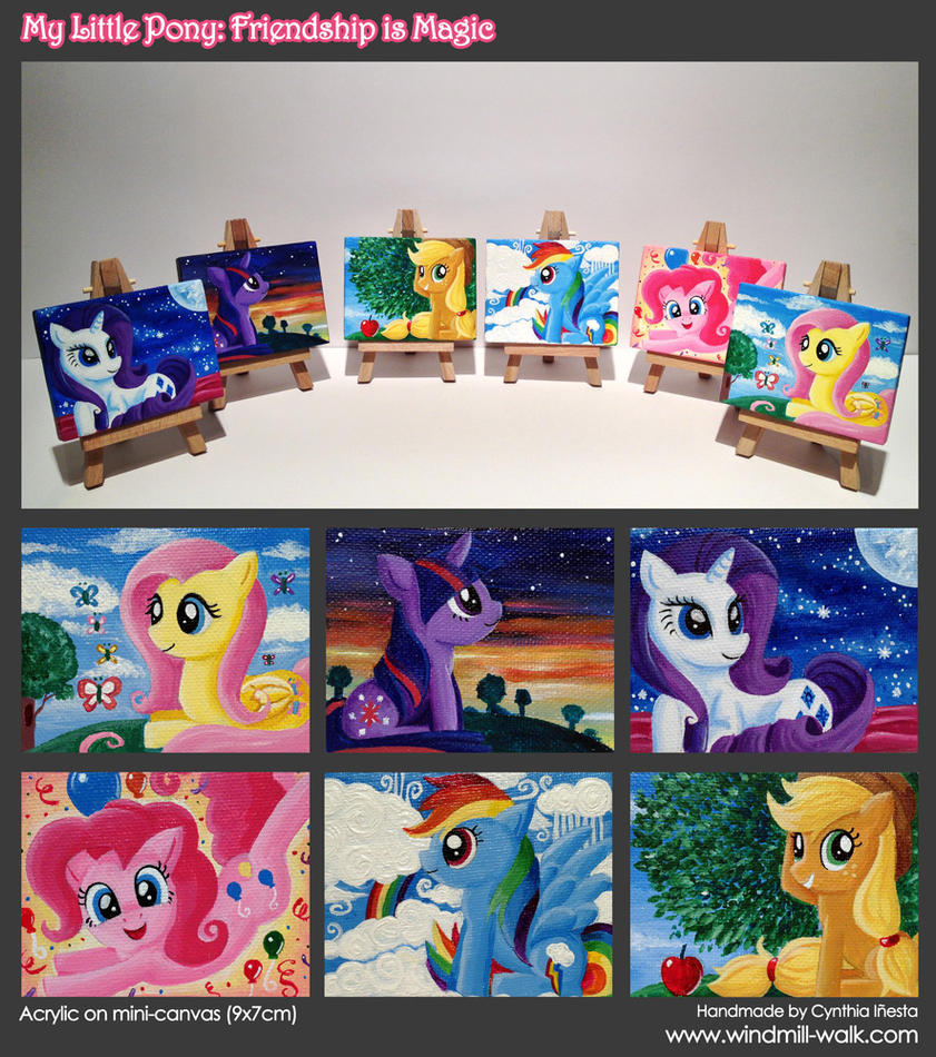 My Little Mini Canvas: Mane Six by Onyrica