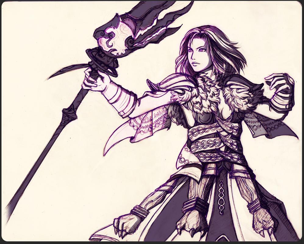 The XIV Black Mage by Onyrica