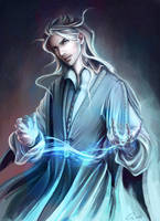 The Ice Mage - [ Commission ] by Onyrica
