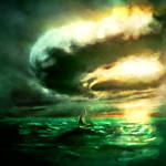 Speedpainting of a Sailboat in a Storm