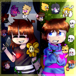 Opss Everything Changes-fnaf And Undertale-redraw