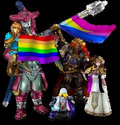 Legend of Zelda - Pride Render (Pride Month) by KuroKairaku