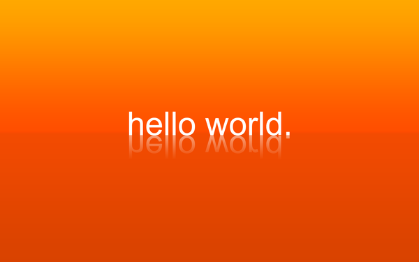 hello world. by CreativeLiberties