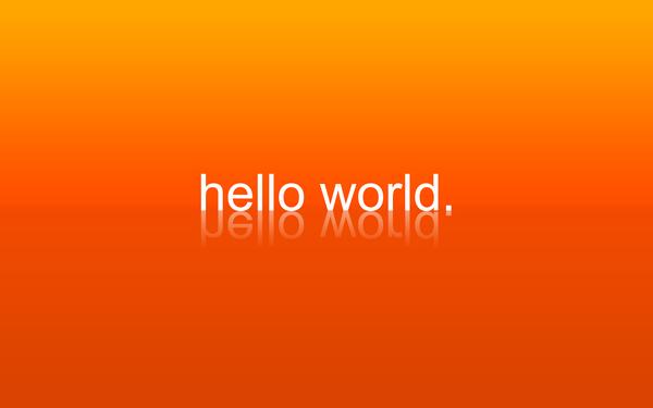 hello world. by CreativeLiberties