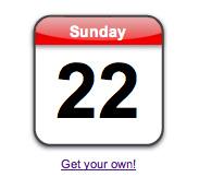 iPhone Calendar Icon Emulator by CreativeLiberties