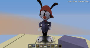Minecraft giant Wakko statue by AGiLE-EaGLE1994