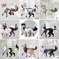 CLOSED 30PTS  May's Moodboard canine adopts pt 1 by Oqami