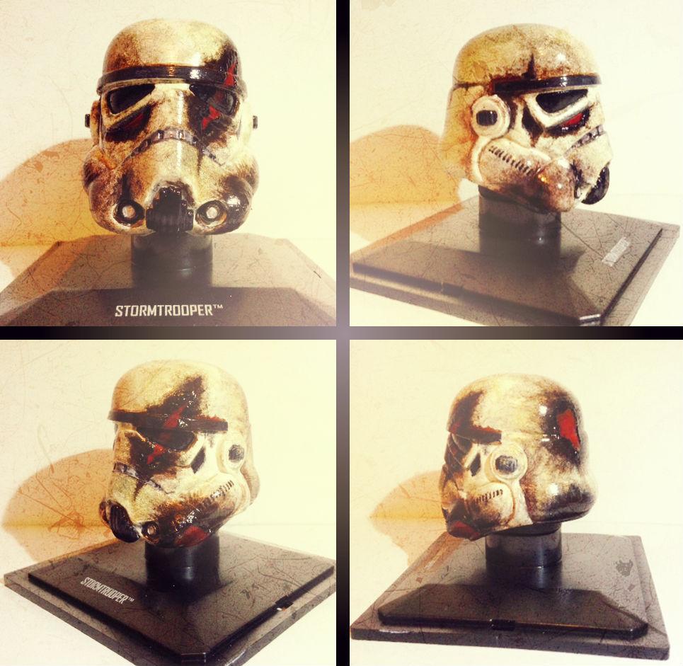 The Destroyed Trooper - Custom Star Wars Helmet by Pop-custom
