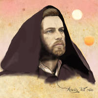 Obi Wan Kenobi on Tatooine by Pop-custom