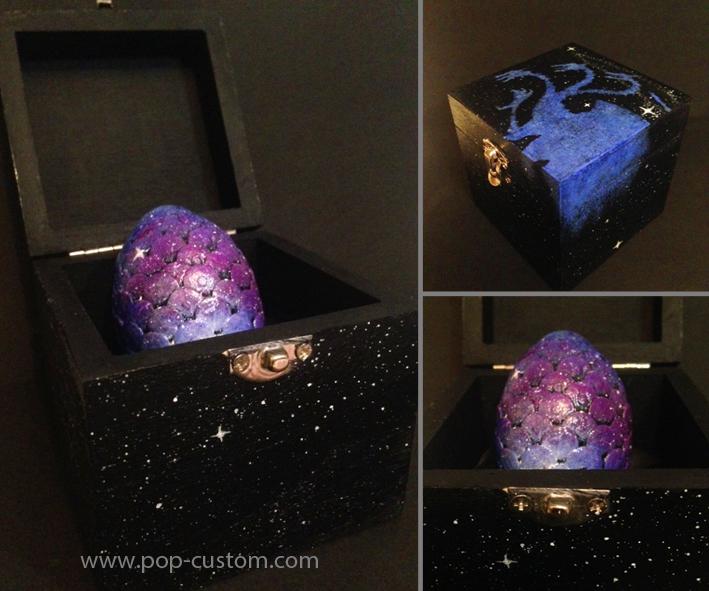 Galactic Dragon Egg - Game of thrones by Pop-custom