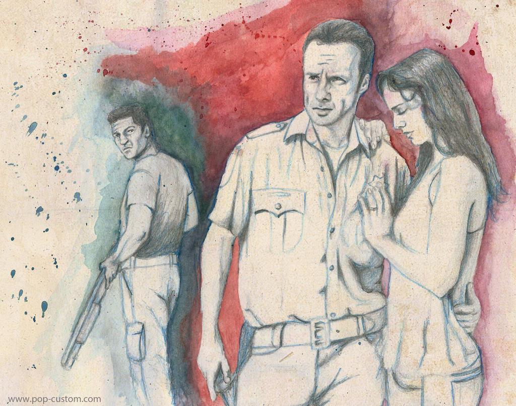 The Walking Dead - Rick, Lori Grimes, Shane Walsh