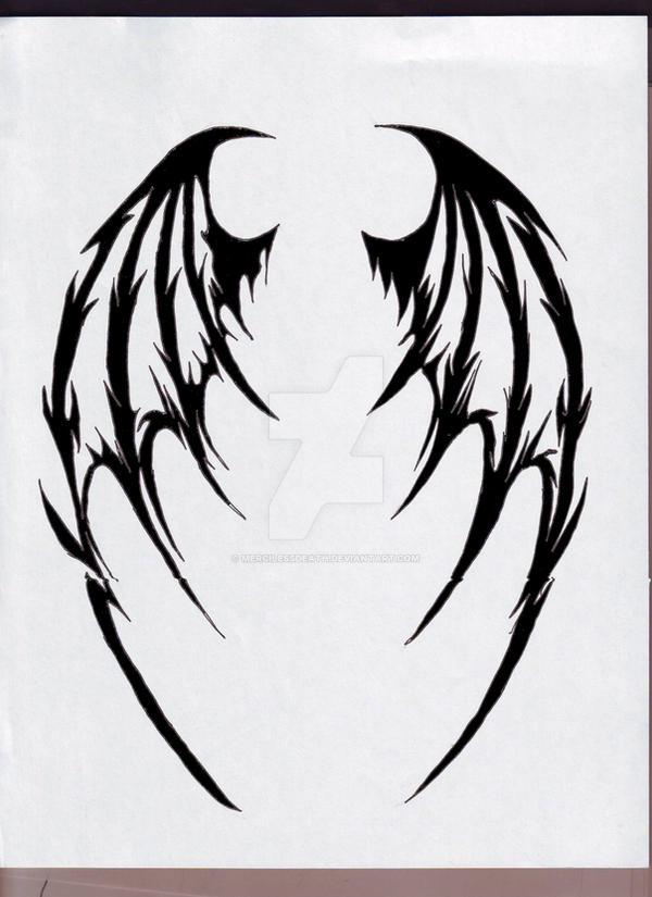 demon wings by mercilessdeath on deviantart. Black Bedroom Furniture Sets. Home Design Ideas