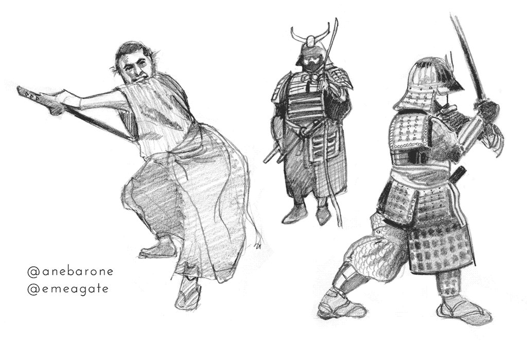 Anebarone-samurai-studies-2 by PygmyGoats