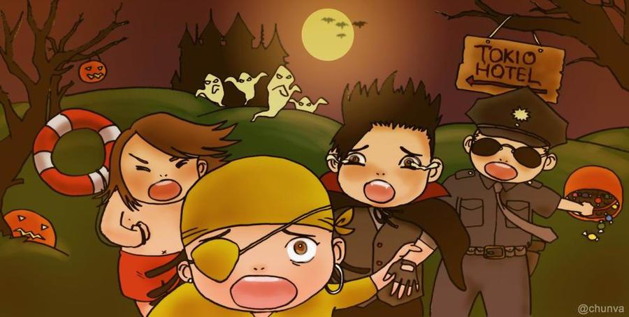 Happy Tokio Hotel Halloween by LONLOTRILILI
