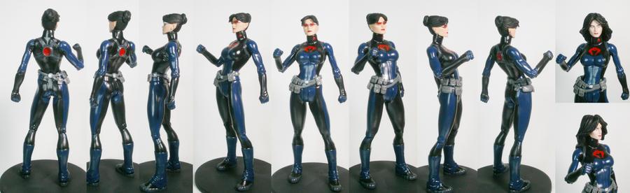 Baroness 6 inch custom figure turnaround by GeekVarietyDotCom