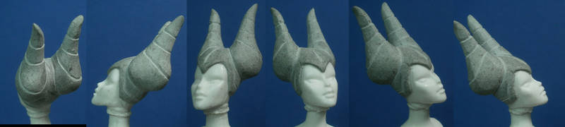 Maleficent head sculpt WIP 2 by GeekVarietyDotCom