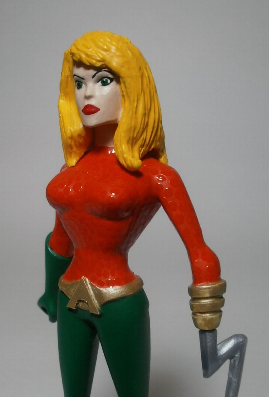 Rule #63 Aquaman Custom Action Figure Detail by GeekVarietyDotCom