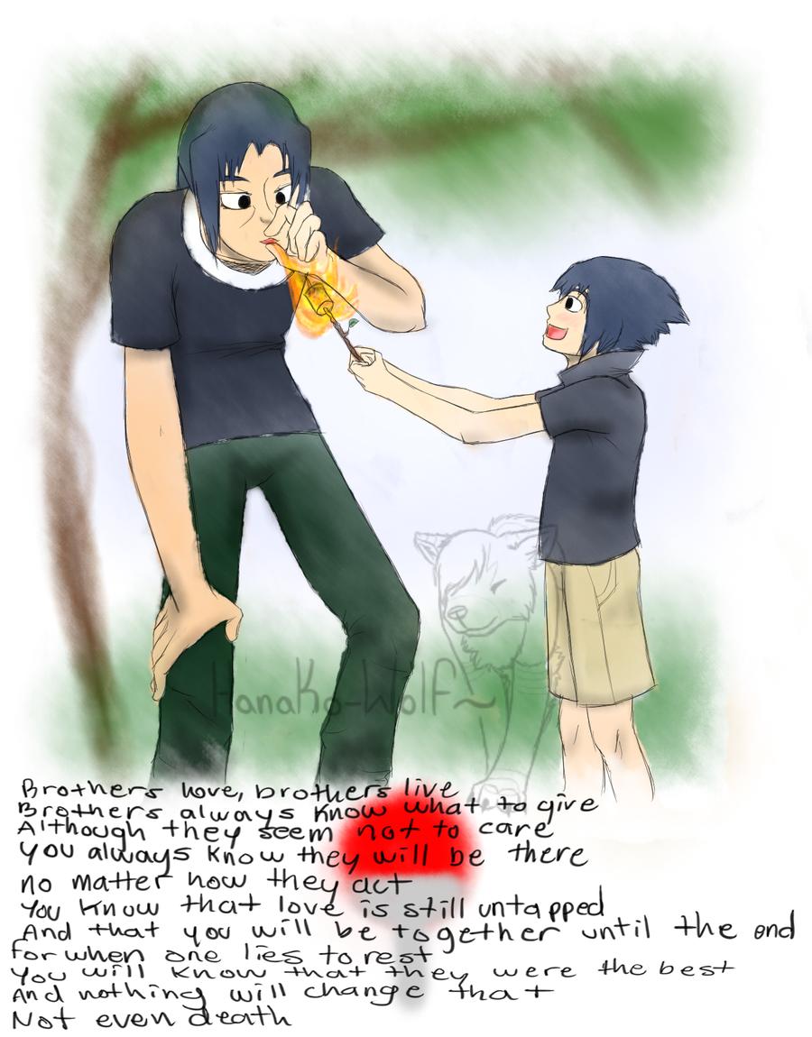 Brothers Love: Sasuke and Itachi by Hanako-Wolf