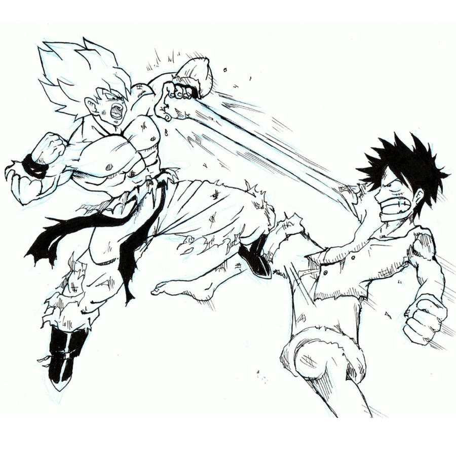 Son Goku VS Monkey D. Luffy By Vegerotto1 On DeviantArt